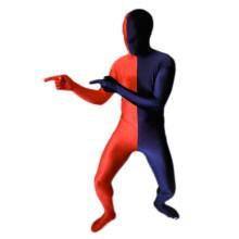 Navy Blue and Red Split Zentai Suit/Fancy Dress /Fancy Costume