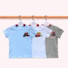 T-shirt infantil do verão dos miúdos dos meninos T-shirt ocasional do desgaste da criança T-shirt da criança do menino T