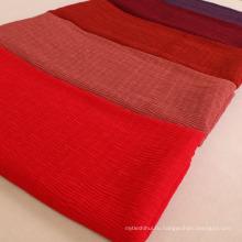 Новое прибытие мода шарф женщины шифон рифленный хиджаб оптовая