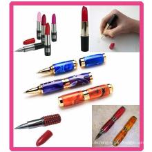 Heißer Verkauf Lippenstift Kugelschreiber mit verschiedenen Farben
