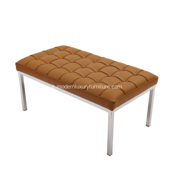 Florence Knoll Replica in pelle marrone