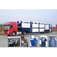 Tri-Axle Transport Car and Vehicles Semitrailer Truck with 10 Cars Loading Capacity