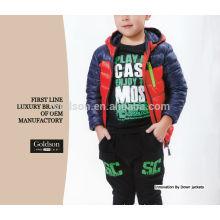 Contraste ultra delgado plegable Down Jacket para el invierno de invierno Boy Ganso