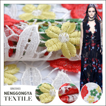 High quality comfortable decorative chemical lace embroidery fabric