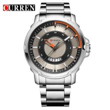 casual business men watch polish stainless steel strap