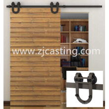 Hardware de alta calidad de la puerta deslizante resistente del acero inoxidable, hardware de la puerta deslizante del granero, hardware superior deslizante de la pista de la puerta de granero