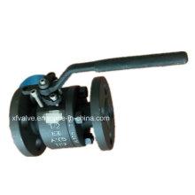 Geschmiedetes Kohlenstoffstahl A105 Flansch-Anschluss-Enden-Kugelventil des Kohlenstoff-150lb