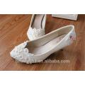 Chaussures de mariée chaussures de mariée en gros chaussures de mariée chaussures de demoiselle d'honneur fleurs en dentelle chaussures de mariage bas talon WS029