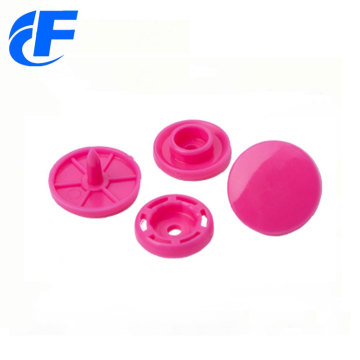 Cheap customised four parts plastic snap button