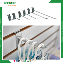 Crochet de Slatwall de fil en métal monté par forces de défense principale