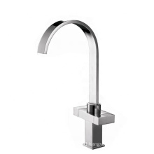 China supplier square double lever kitchen faucet mixer tap