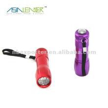 Портативный карманный алюминиевый 9 светодиодный фонарик