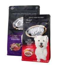 Plastic Flat Bottom Zipper Bag For Pet Food