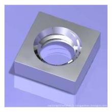 Noix carrées en acier au carbone sans biseau / écrous pressés DIN562