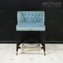 Commercial bar furniture high back throne chair velvet bar chair vintage