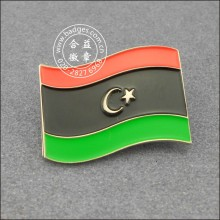 Ливийский флаг значок из лацкана, металлический значок (GZHY-LP-005)