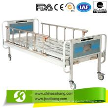 Billiges chinesisches manuelles Krankenhaus-Bett mit Ruhe-Laufrollen