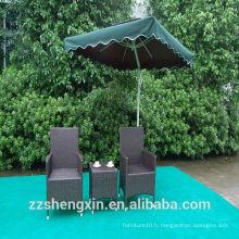 Rattan Tea Table Sets Chaise de table en rotin pour jardin