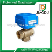 Durable professional factory price copper easy installation pn16 2 4 5 inches copper brass automatic 3 way valve and actuator
