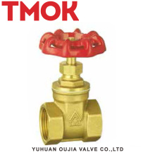 chrome plated with hand wheel NPT thread brass gate valve
