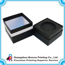 Handgemachtes kundenspezifisches schwarzes Papierkastengeschenk Guangzhous Soem-Herstellers