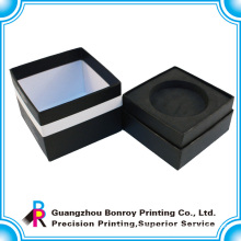 Guangzhou OEM manufacturer handmade customized black paper box gift