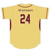 Jersey de béisbol de poliéster de sublimación personalizada