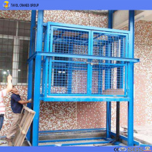 Rail Type Hydraulic Warehouse Cargo Lift