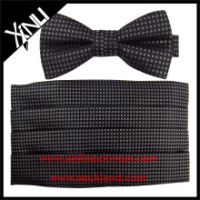 Small Geometrical Custom Made Cummerbund and Bow Tie Set