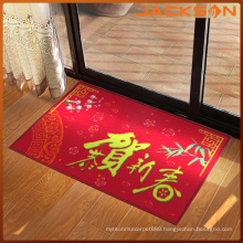 Waterproof New Year Drawing Door Mat for Home