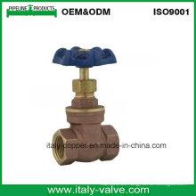 Válvula de compuerta de bronce Bsp certificada (AV4001)
