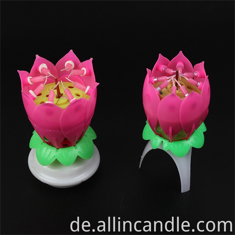 Lotus Rotating Candle
