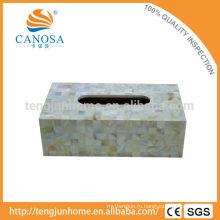 Торговля Assurance ручной работы пресноводных раковины прямоугольной ткани коробка держатель