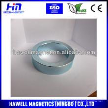 Дешевый большой неодимовый кольцо магнит zn покрытие