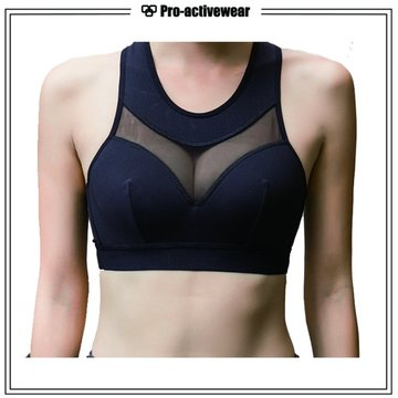 OEM Fabricantes Youth Fitness Gym Mesh Sport Bra