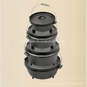 LFGB, FDA, Ce, FDA calificado de hierro fundido Outdoor camping barbacoa Set
