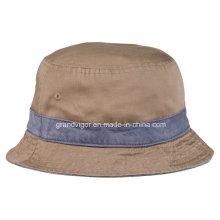 Algodón cepillado lavado reversible sombrero de pescador para las mujeres