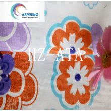 Olyester Print Flower Pongee Fabric