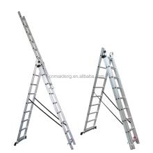 adjustable 3 sections aluminium combination ladder