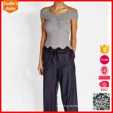 Späteste Entwurfs-sleeveless Frauen kühle acrylische feste Strickjackeweste