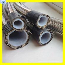 Tuyau PTFE de tuyau de PTFE Tuyau couvert par fil d'acier inoxydable R14