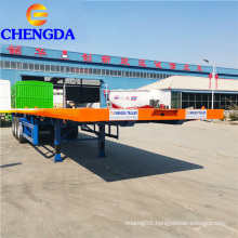 3 axle 40 ton flatbed container trailer