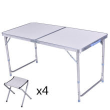 Открытый складной алюминиевый стол для пикника и стулья/портативный стол кемпинг наборы
