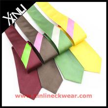 Panel Stripes Niedriger Preis Polyester Krawatte Corbatas Poliester