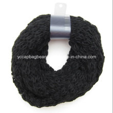 Women Acrylic Knitted Infinity Fashion Scarf Neck Warmer