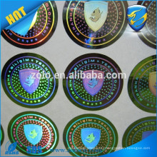 Strong Adhesive Permanent sticky custom shape&print holograms/two-dimension code hologram