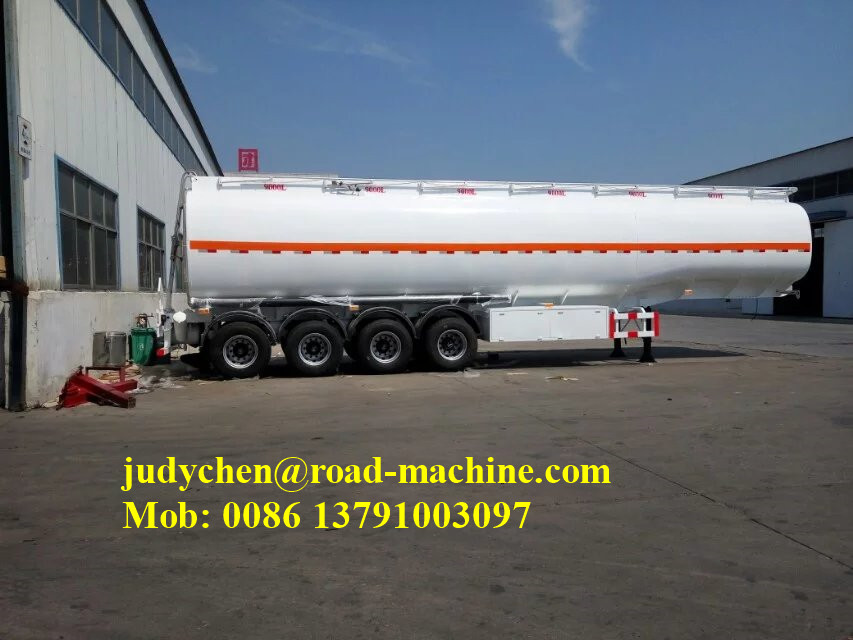 40000l Aluminum Cooking Oil Tanker Semi Trailer