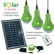 Guter Qualität Led Licht Solar Power Kit mit 12W Solarmodul