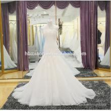Mais recente moda rendas sereia vestido de noiva no preço barato por atacado