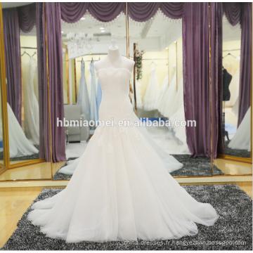 Dernière robe de mariée de dentelle de sirène de mode dans le prix bon marché en gros
